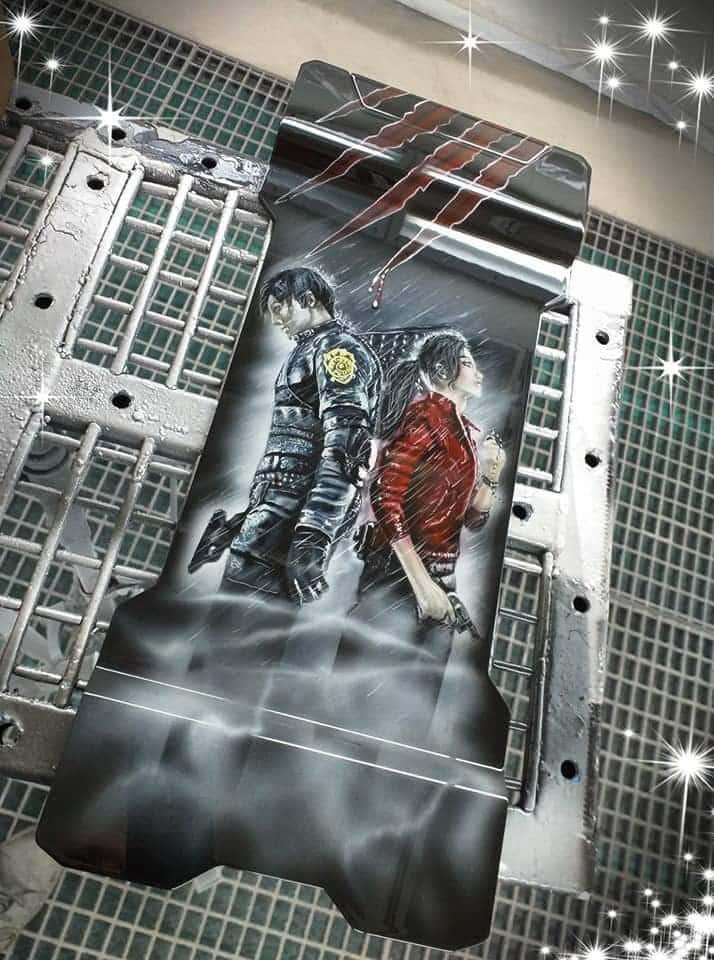 Session Airbrush Aérographe sur le Phanteks Evolv X pour le projet modding Resident Evil 2