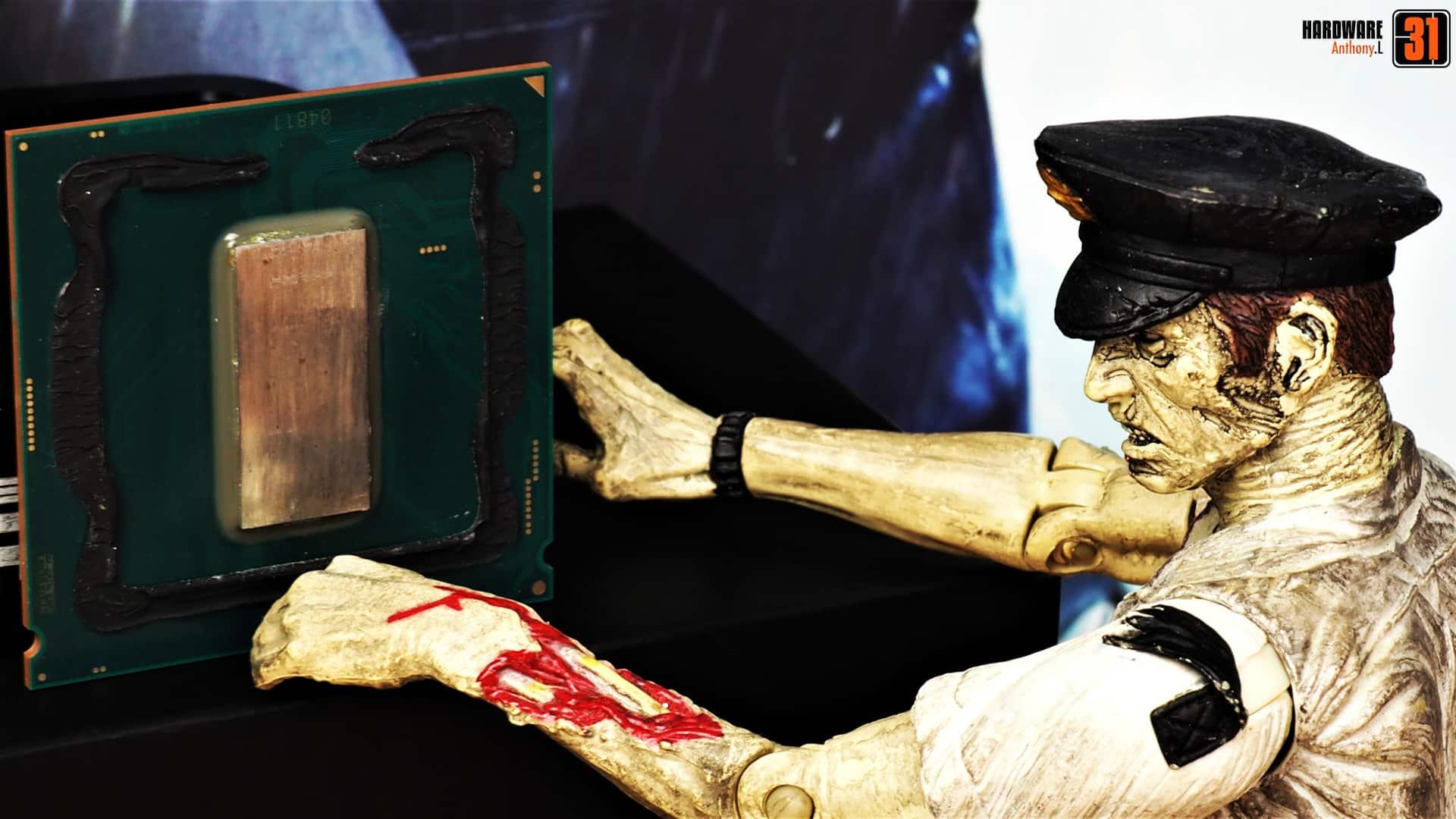Delid (décapsulage) d'un Intel I9 9900K pour le projet modding Resident Evil 2