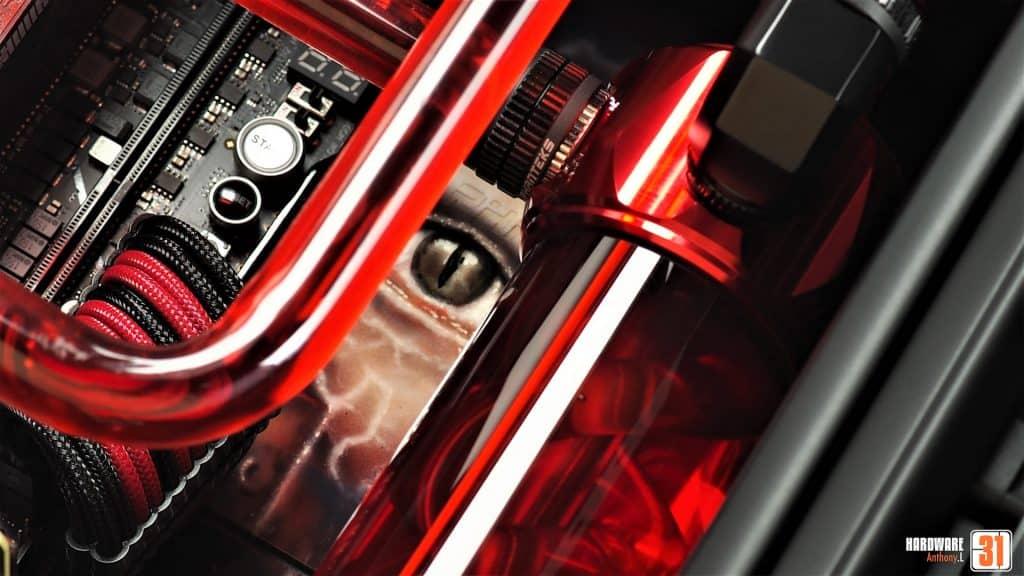 Phanteks Evolx X, ROG 2080 Ti, 9900K, shooting final du projet modding Resident Evil 2