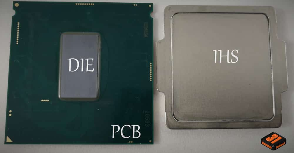 La composition d'un CPU utilisé dans notre tutoriel DELID pour décapsuler votre processeur Intel en toute sécurité
