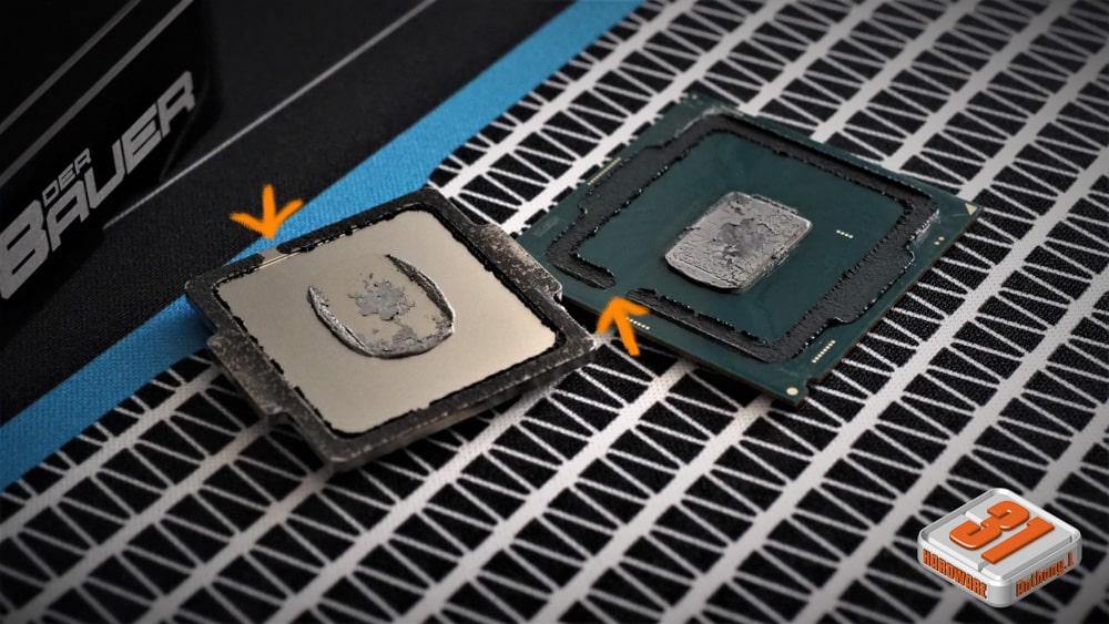 Notez bien l'espace sans sillicone dans notre tutoriel DELID pour décapsuler votre processeur Intel en toute sécurité