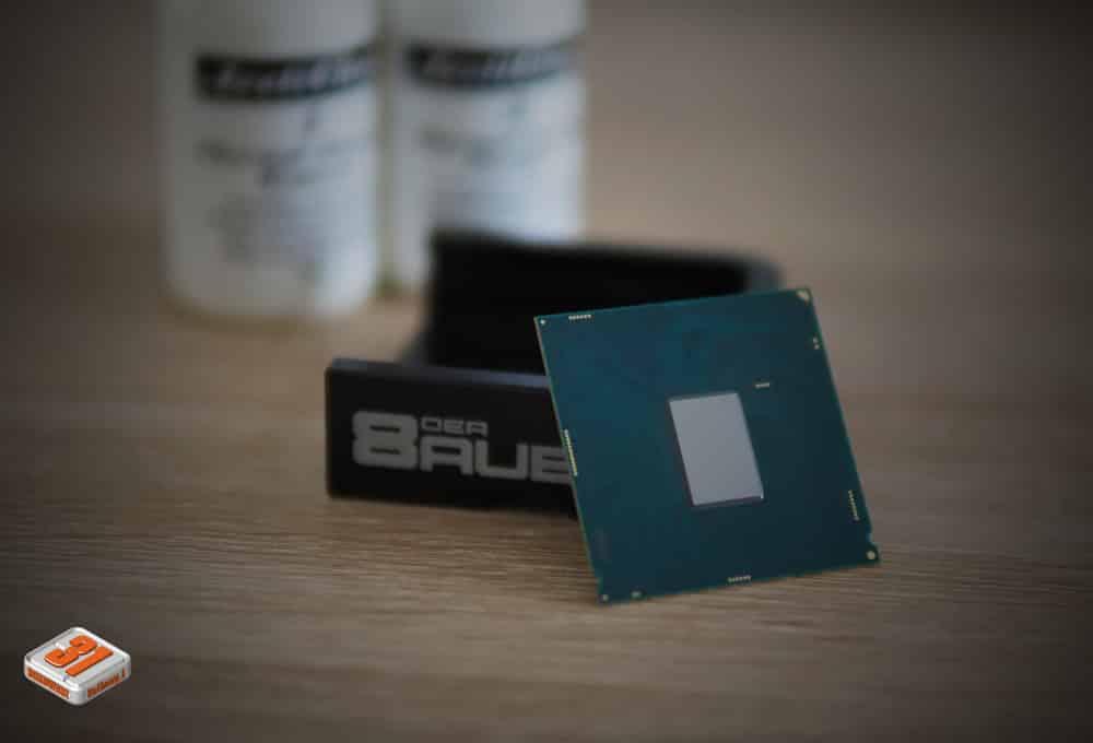 Le nettoyage du DIE éffectué dans notre tutoriel DELID pour décapsuler votre processeur Intel en toute sécurité