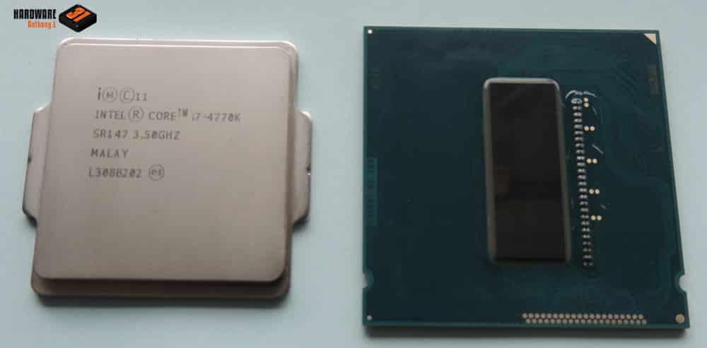 Vernir un Inel I7 4770K dans notre tutoriel DELID pour décapsuler votre processeur Intel en toute sécurité
