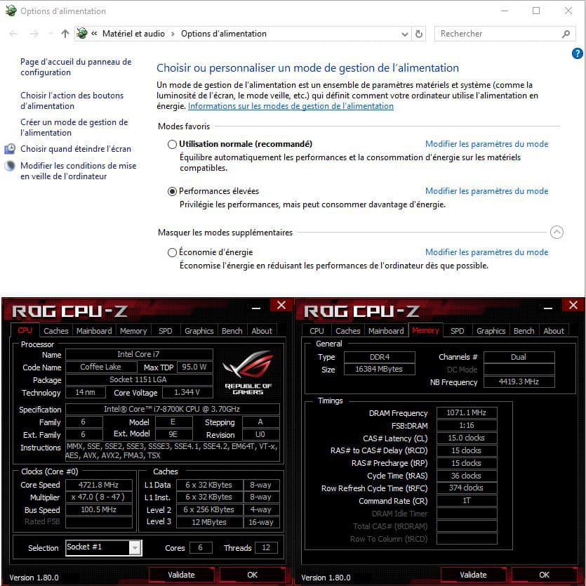 Réglage du mode alimentation windows dans notre tutoriel DELID pour décapsuler votre processeur Intel en toute sécurité