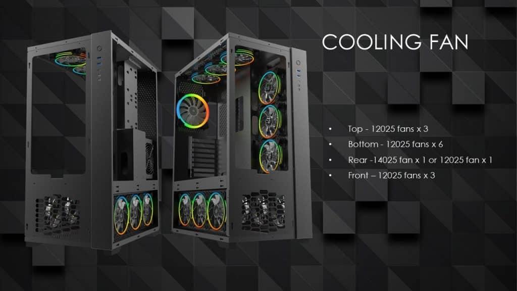 La capacité d'accueil des ventilateurs du Raijintek Paean Premium