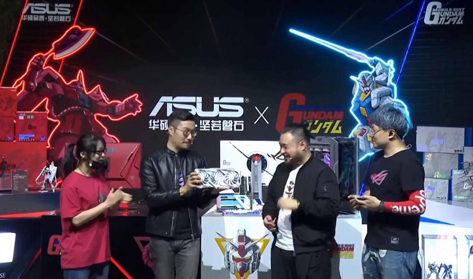 Présentation de la Rog Strix Gundam RTX 3090 au Rog Day 2020