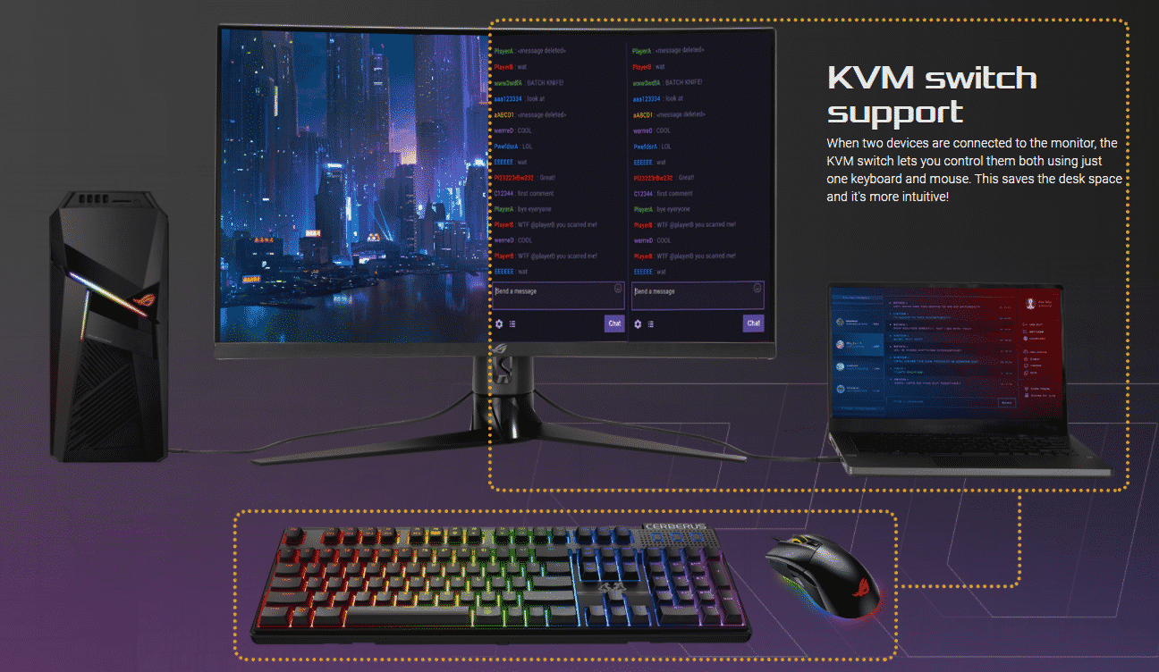 Explication du support KVM intégré par le XG32VC
