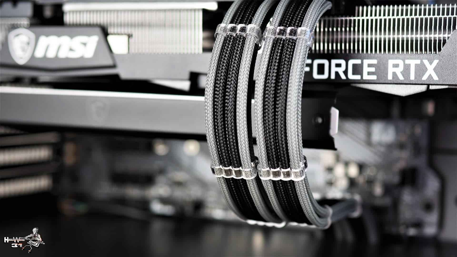 Le Kit rallonge OCDESIGN Premium 180 degrés utilisé dans ce montage client effectué avec le configurateur PC Hardware31