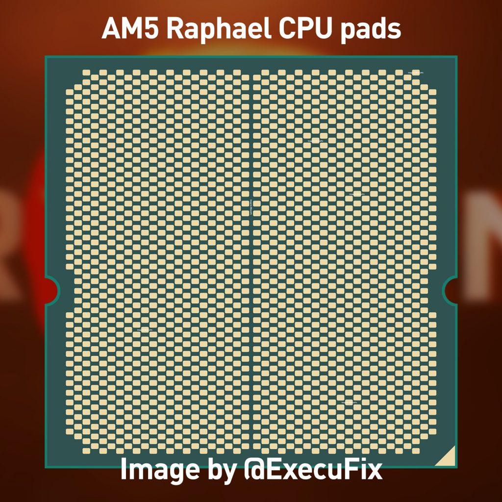 Un premier visuel du pad CPU Raphael ayant fuité compatible Socket AM5
