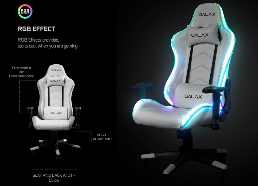 Galax présente sa nouvelle collection de chaise gaming GGC-001 RGB