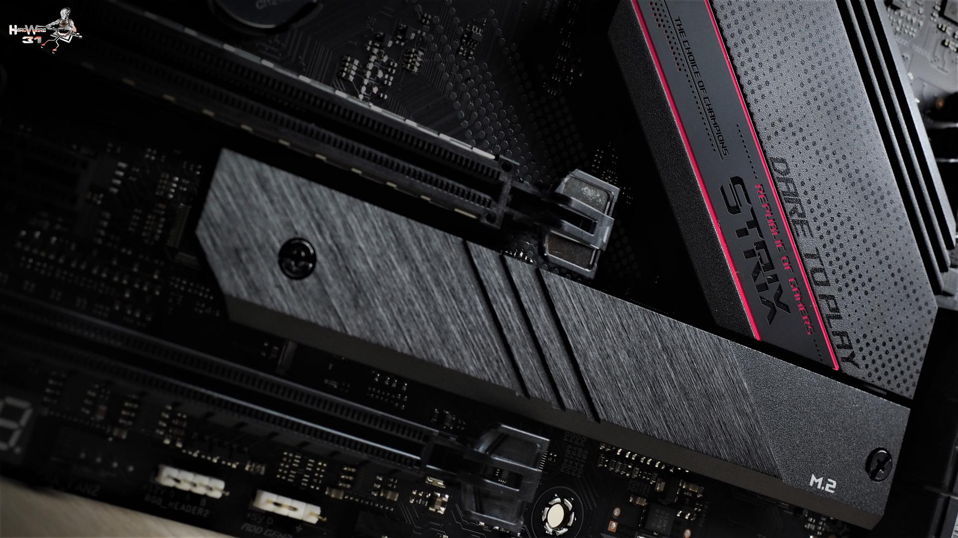 La carte mère ASUS ROG STRIX B550-XE utilisée dans le projet Modding P600S Final Flash par Hardware31