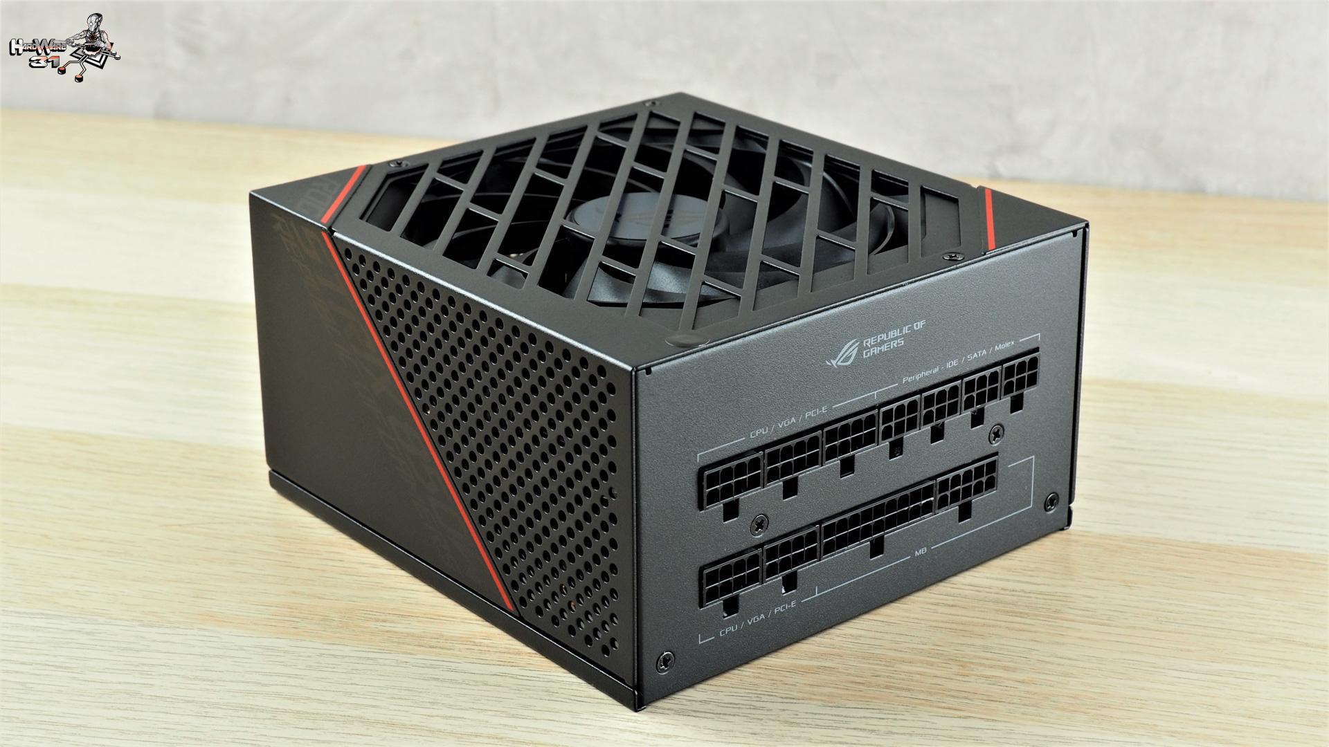 L'alimentation ASUS ROG STRIX 850G de notre PC DBZ à l'effigie de Végéta utilisé dans le projet Modding P600S Final Flash par Hardware31