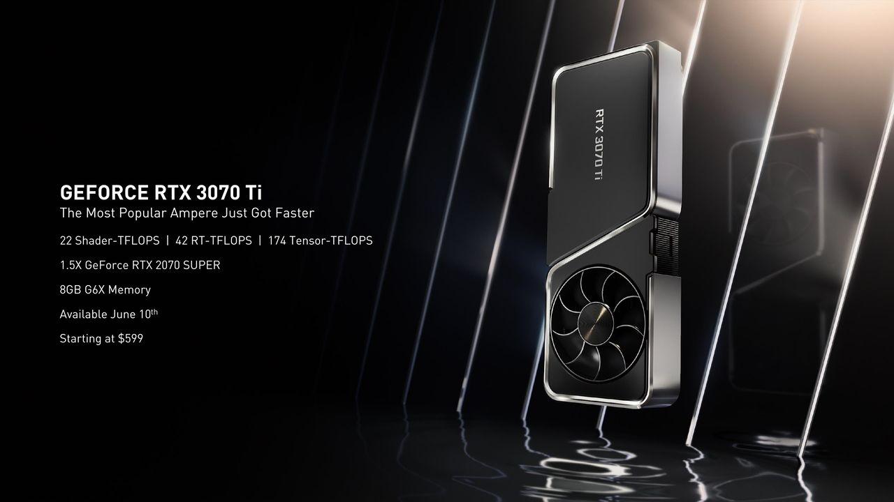 Nvidia dévoile un rapide résumé des atouts de la RTX 3070 Ti