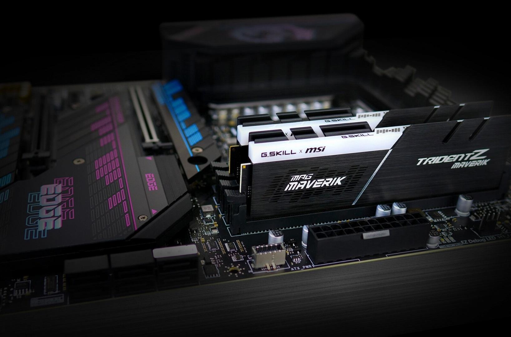 MSI a réalisé un partenariat avec G-Skill pour la mémoire RAM Maverik