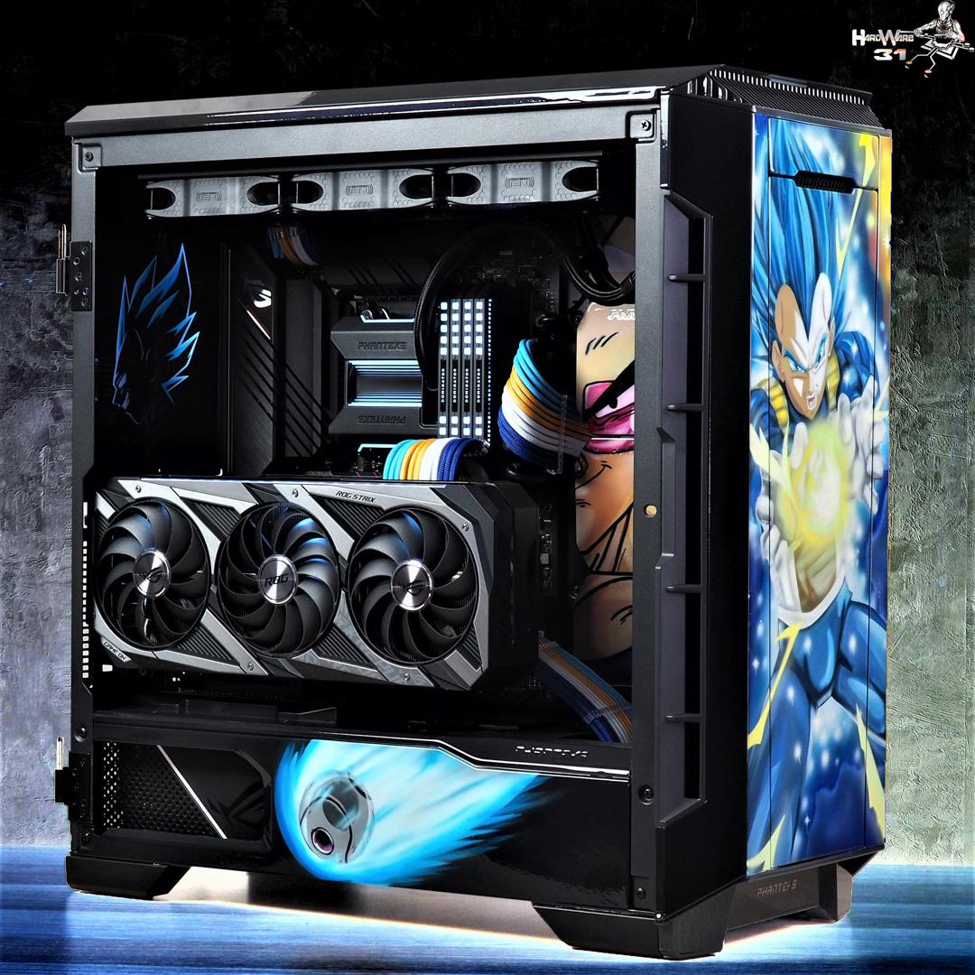 Shooting finale du projet Modding P600S Final Flash - Un PC gamer DBZ à l'effigie de Végéta ! par Hardware31