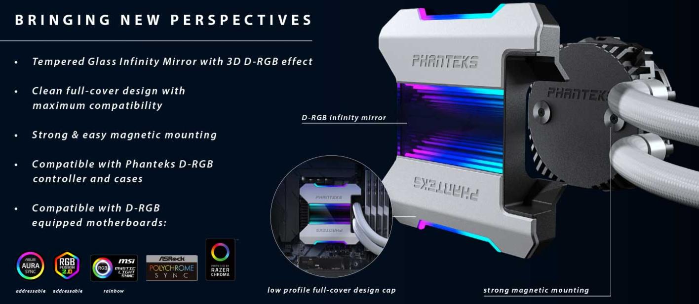 Phanteks dévoile sa nouvelle édition en blanc le Glacier One 360MPH