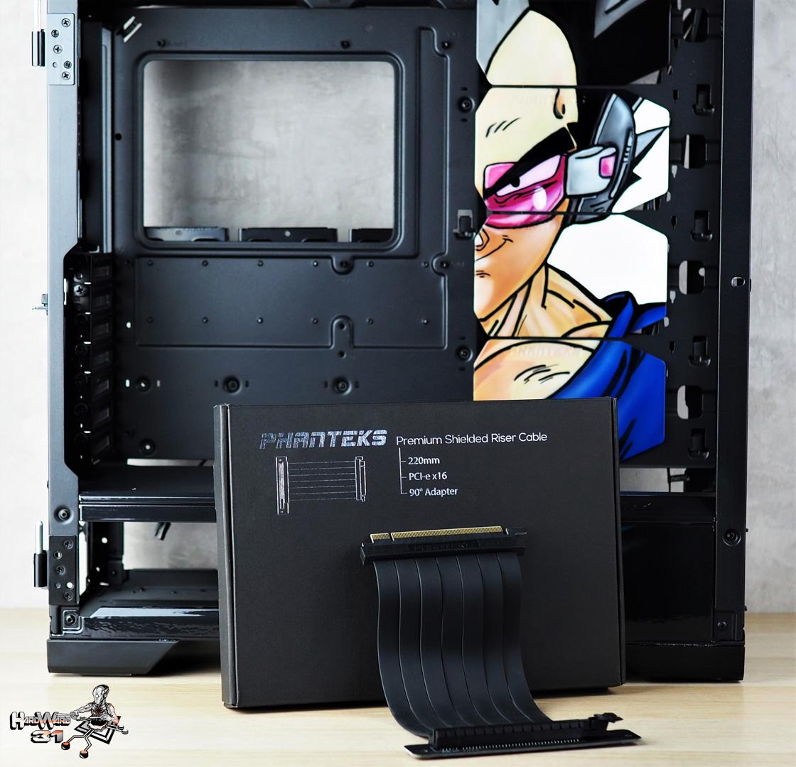 Le Phanteks Riser Premium utilisé dans le projet Modding P600S Final Flash par Hardware31