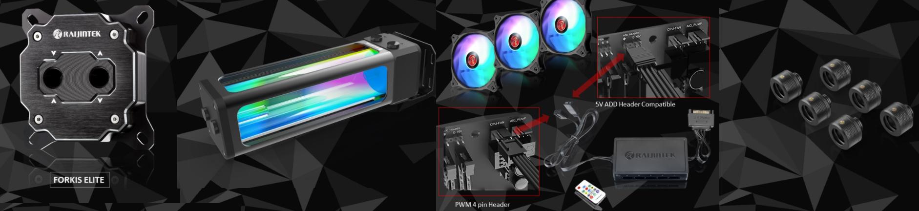 Raijintek présente ses nouveaux kit watercooling custom CA240/CA360