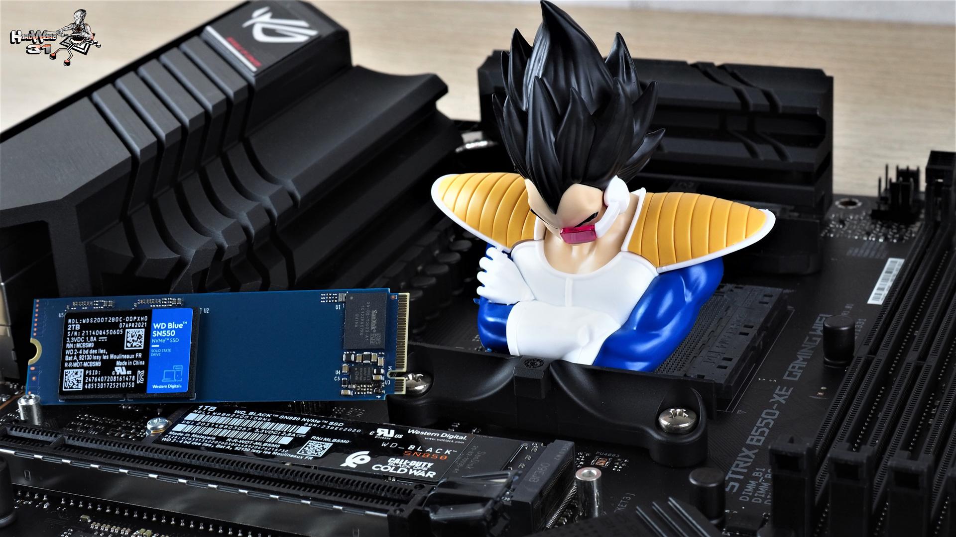 Les Nvme WS Blue SN550 et Black SN850 utilisés dans le projet Modding P600S Final Flash par Hardware31