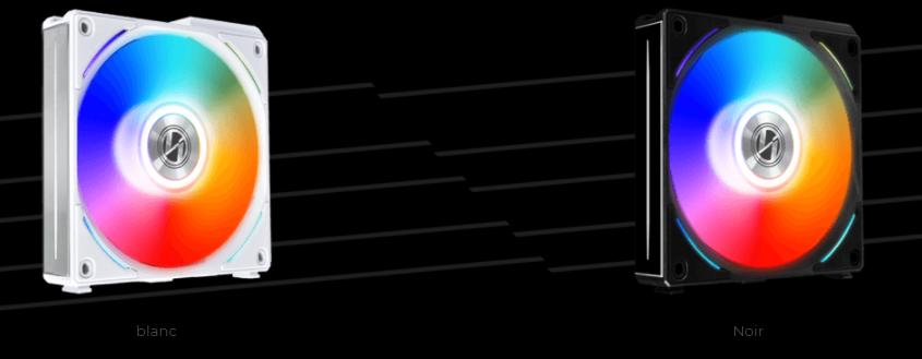 Lian Li dévoile ses nouveaux ventilateurs UNI Fan AL120 noir et blanc