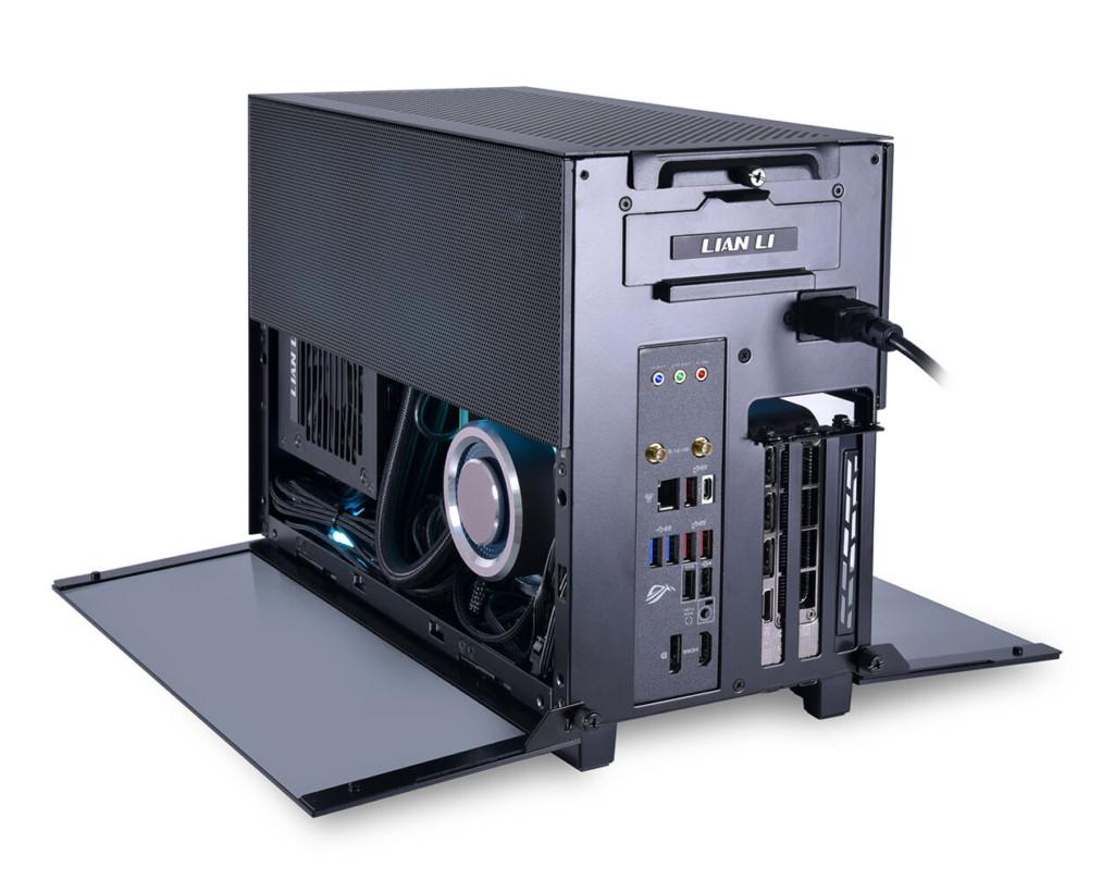 Lian Li présente le Q58 son mini boîtier pour format ITX en noir dans un build