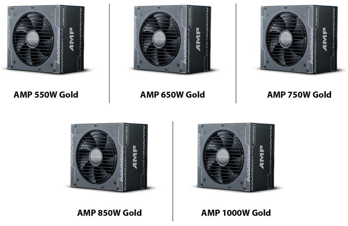 Phanteks officialise sa nouvelle série d'alimentation AMP